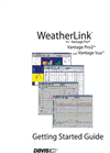 WeatherLink Getting Started Guide: Vantage Stations Manual