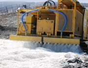 Foam covering of landfills