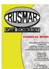 Technical Memorandum - Evaluation of Volatile Organic Compound Emission Control of Rusmar AC-900L and AC-900 Brochure