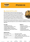 Model PFU 2500/60 - Self-Propelled Foam Generating System Datasheet