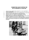 Model NTC/8 - Pneumatic Foam Unit - Operation Manual