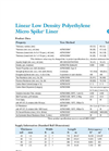 LLDPE Micro Spike Product Data Sheet