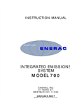 Enerac - Model 700 - Integrated Emissions System Instruction Manual