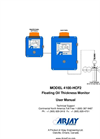 Model 4100-HCF - Floating Oil Thickness Monitor User Manual