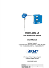 Arjay 2852-LS Two Point Level Switch - User Manual