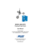 Model 2852-HCF - Floating Oil Spill Alarm User Manual
