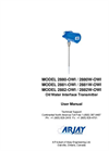 Arjay 2880-OWI Probe Mounted Oil/Water Interface Transmitter - User Manual