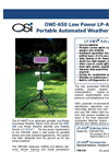 OWI-650 Low Power LP-AWS - Portable Automated Weather Station Brochure