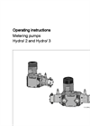 Hydro/ 2 and Hydro/ 3 - Motor Metering Pumps Operating Instructions Manual
