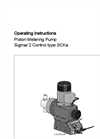 Piston Metering Pump Sigma/ 2 Control Type SCKa Operating Instructions Manual