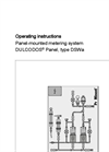 DULCODOS - Type DSWa - Panel-Mounted Metering System Manual
