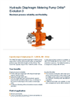 Orlita - Model Evolution 3 - Hydraulic Diaphragm Metering Pump - Brochure