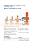 Hydraulic Diaphragm Metering Pump Orlita Evolution 4 - Brochure