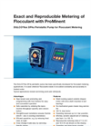 DULCO - Model flex DF4a - Peristaltic Pump for Flocculant Metering - Brochure
