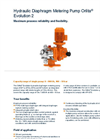 Orlita - Model Evolution 2 - Hydraulic Diaphragm Metering Pump - Brochure