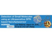 Join our live webinar on the detection of small molecules using an ultrasensitive SPRi based NanoAptasensor, on Thursday, March 24th, 2016.