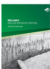 Rollmax - Rolled Erosion Control Installation Guide