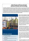 Model 50 GPM - Ion Exchange Rinse Water Recycle System Brochure