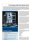 Hollow Fiber Filtration Systems Brochure