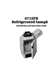 Teledyne Isco - Model 6712FR - Fiberglass Refrigerated Sampler - User Manual