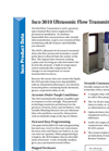 Teledyne Isco - Model 3010 - Ultrasonic Flow Transmitter - Datasheet