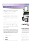 ACCQPrep - Model HP125 - High Performance Preparative Liquid Chromatography (HPPLC) System - Datasheet