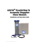 ADFM Pro20/Hot Tap Acoustic Doppler Flow Meters - User Manual