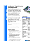 accQcomm - Digital/Analog Interface Module - Datasheet