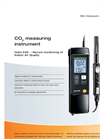 Testo 535 - CO2 Measuring Instrument with Fixed Probe Brochure