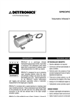 Volumetric (PIRVOL) IR Gas Monitor - Specification Brochure