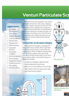 Venturi Air Scrubbers — Wet Dust Collectors Brochure