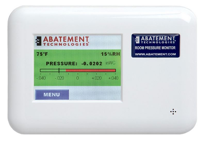 Abatement - Model RPM-RT2 - Dual Room Pressure Monitor