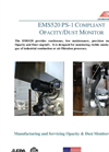Model EMS520 - EPA Compliant Opacity Monitors - Brochure