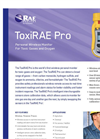 ToxiRAE - Model Pro - Wireless Single-Gas and Oxygen Detector Brochure