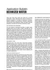 Deionized Water Brochure