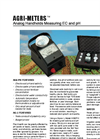Agri-Meters - Analog Handhelds Measuring EC And pH Datasheet