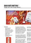 Dialysate Meters - Single And Dual Range Meters Datasheet