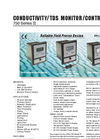 Myron - 750 Series II - Conductivity/TDS Monitor/Controllers Datasheet
