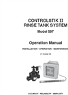 Controlstik II - 597 - Dual Range Heavy Duty Rinse Tank Control System Operation Manual
