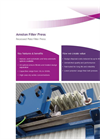 Amston Filter Press For Dewatering Sludge Brochure