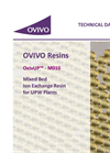 OvivUP - Model M010 - Mixed Bed Ion Exchange Resin for UPW Plants - Brochure
