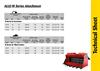 Model M - Excavators Technical Sheet