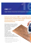 Oxford Instruments - CMI165 - Copper Thickness Measurement with Temperature Compensation Brochure