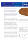 Determination of Oil and  Moisture Content in Fish Feed Application Brochure