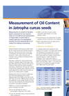 Measurement of Oil Content in Jatropha Curcas Seeds Application Brochure