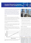 Standard Method for Hydrogen Content in Fuels (ASTM D7171-05) Brochure