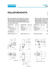 Roller Brackets – BDH6 – Specifications