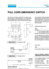Emergency Devices – ES1-2 – Specification
