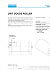 Sandvik - HM110 - Unit Handling Rollers – GS– Specification