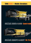 TANA Shark - Model 220D/440D - Semi-Trailer Mobile Shredders - Brochure